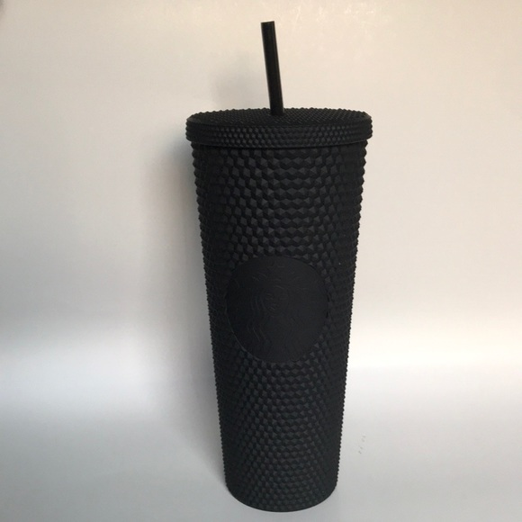 Brand New Starbucks Spiked Matte Black Tumbler Cup Nwt